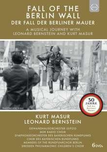 Der Fall der Berliner Mauer - Eine musikalische Reise mit Leonard Bernstein & Kurt Masur, 6 DVDs