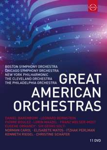 Great American Orchestras, 11 DVDs
