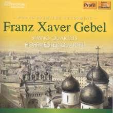 Franz Xaver Gebel (1787-1843): Streichquartette D-Dur & Es-Dur op.27, CD