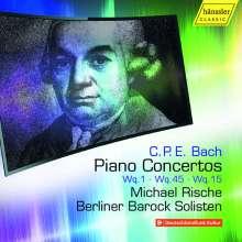 Carl Philipp Emanuel Bach (1714-1788): Cembalokonzerte Wq.1,15,45, CD