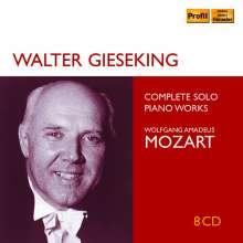Walter Gieseking - Mozart Solo Recordings, 8 CDs
