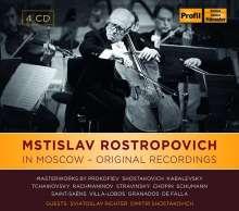 Mstislav Rostropovich in Moscow, 4 CDs