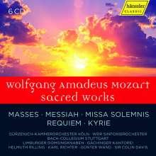 Wolfgang Amadeus Mozart (1756-1791): Geistliche Werke, 6 CDs