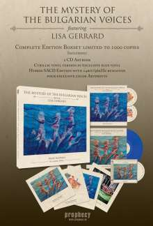 The Mystery Of The Bulgarian Voices: BooCheeMish - The Complete Edition (180g) (Limited-Boxset) (Blue Vinyl), 1 LP, 2 CDs, 1 Super Audio CD und 1 Buch