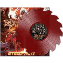 """U.D.O. & Brothers Of Metal: Fire Blood And Steel / Blood And Fire (Limited Edition) (Red Colored Shape Vinyl), Single 12"""""""