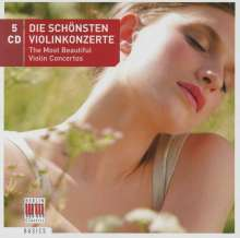 Die schönsten Violinkonzerte, 5 CDs