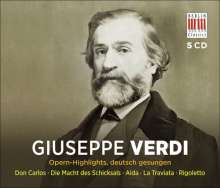 Giuseppe Verdi (1813-1901): 5 Opern-Highlights (in deutscher Sprache), 5 CDs
