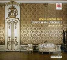 Johann Sebastian Bach (1685-1750): Brandenburgische Konzerte Nr.1-6, 2 CDs