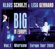 Klaus Schulze & Lisa Gerrard: Big In Europe Vol. 1 - Warsaw 2009 (2DVD + CD), 1 CD und 2 DVDs