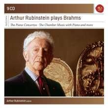 Johannes Brahms (1833-1897): Arthur Rubinstein spielt Johannes Brahms, 9 CDs