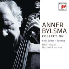 Anner Bylsma plays Cello Suites and Sonatas, 11 CDs
