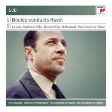 Maurice Ravel (1875-1937): Pierre Boulez conducts Ravel, 5 CDs