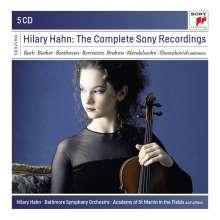 Hilary Hahn - The Sony-Recordings, 5 CDs