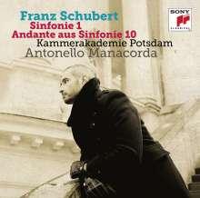 Franz Schubert (1797-1828): Symphonien Nr.1 & 10 (Fragment), CD