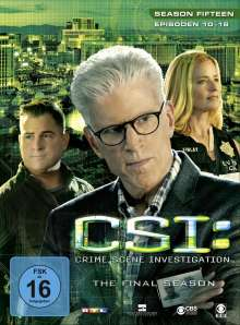 CSI Las Vegas Season 15 (finale Staffel) Box 2, 3 DVDs