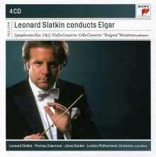 Edward Elgar (1857-1934): Leonard Slatkin dirigiert Elgar, 4 CDs