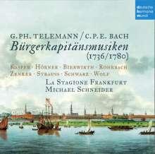 """Carl Philipp Emanuel Bach (1714-1788): Bürgerkapitänsmusik """"Hebt an, ihr Chöre der Freuden"""" (Oratorium 1780), 2 CDs"""