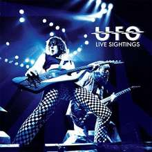 UFO: Live Sightings (Limited-Edition-Box-Set) (Yellow Vinyl), 4 CDs, 1 LP und 1 Buch