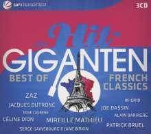Die Hit-Giganten: Best Of French Classics, 3 CDs