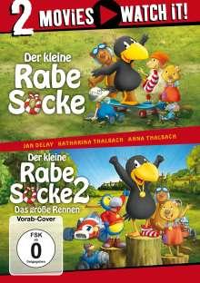 Der kleine Rabe Socke 1 & 2, 2 DVDs