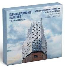 Johannes Brahms (1833-1897): Symphonien Nr.3 & 4 (Deluxe-Edition der ersten Aufnahme aus der neuen Elbphilharmonie Hamburg mit Blu-ray), 1 CD und 1 Blu-ray Disc