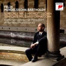 Felix Mendelssohn Bartholdy (1809-1847): Symphonien Nr.3 & 5, CD