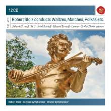 Robert Stolz conducts Waltzes, Marches & Polkas etc., 12 CDs