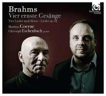 Johannes Brahms (1833-1897): Vier ernste Gesänge op.121, CD