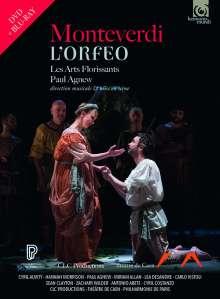 Claudio Monteverdi (1567-1643): L'Orfeo, 1 DVD und 1 Blu-ray Disc