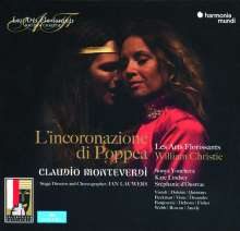 Claudio Monteverdi (1567-1643): L'incoronazione di Poppea, 3 CDs und 1 DVD