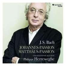 Johann Sebastian Bach (1685-1750): Philippe Herreweghe - Matthäus-Passion BWV 244 & Johannes-Passion BWV 245, 5 CDs
