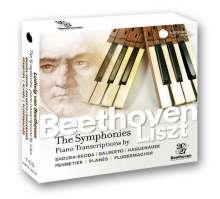 Ludwig van Beethoven (1770-1827): Symphonien Nr.1-9 (Klavierfassung von Franz Liszt), 7 CDs