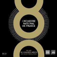 Orchestre National De France - 80 Ans de Concerts Inedits, 8 CDs