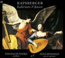 """Giovanni Kapsberger (1580-1651): Toccaten Nr.1-8 aus """"Libro Primo D'Intavolatura di Chitarrone"""", CD"""
