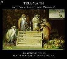 Georg Philipp Telemann (1681-1767): Darmstädter Ouvertüren und Konzerte, CD