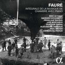 Gabriel Faure (1845-1924): Kammermusik mit Klavierbegleitung, 5 CDs