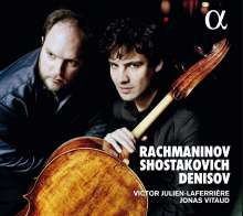 Victor Julien-Laferriere & Jonas Vitaud - Rachmaninoff / Schostakowitsch / Denisov, CD