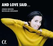 Jodie Devos - And Love said, CD