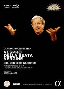 Claudio Monteverdi (1567-1643): Vespro della beata vergine, 1 Blu-ray Disc und 1 DVD