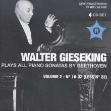 Walter Gieseking spielt Klaviersonaten von Beethoven Vol.2, 4 CDs