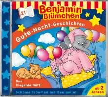 Benjamin Blümchen. Gute-Nacht-Geschichten 21. Das fliegende Bett, CD