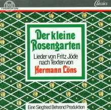 Fritz Jöde (1887-1970): Der kleine Rosengarten nach Hermann Löns, CD