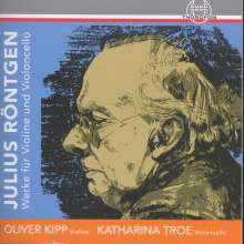 Julius Röntgen (1855-1932): Kammermusik für Violine & Cello, 3 CDs