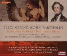 Felix Mendelssohn Bartholdy (1809-1847): Die Schauspielmusiken, 4 CDs