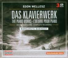 Egon Wellesz (1885-1974): Das Klavierwerk, 3 CDs