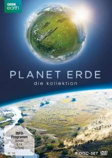 Planet Erde - Die Kollektion (Limited Edition im edlen Bookpak), 8 DVDs