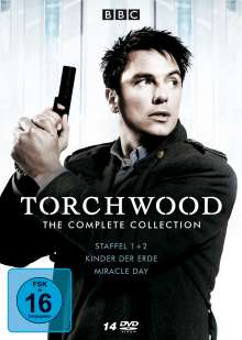 Torchwood (The Complete Collection), 14 DVDs