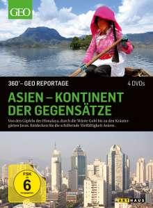 360° Geo-Reportage: Asien - Kontinent der Gegensätze, 4 DVDs