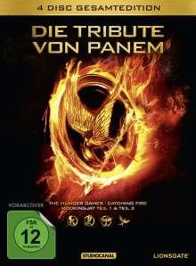 Die Tribute von Panem (Gesamtedition), 4 DVDs