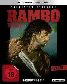 Rambo Trilogy (Ultra HD Blu-ray & Blu-ray), 3 Ultra HD Blu-rays und 3 Blu-ray Discs